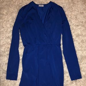 Versatile blue mid-length dress